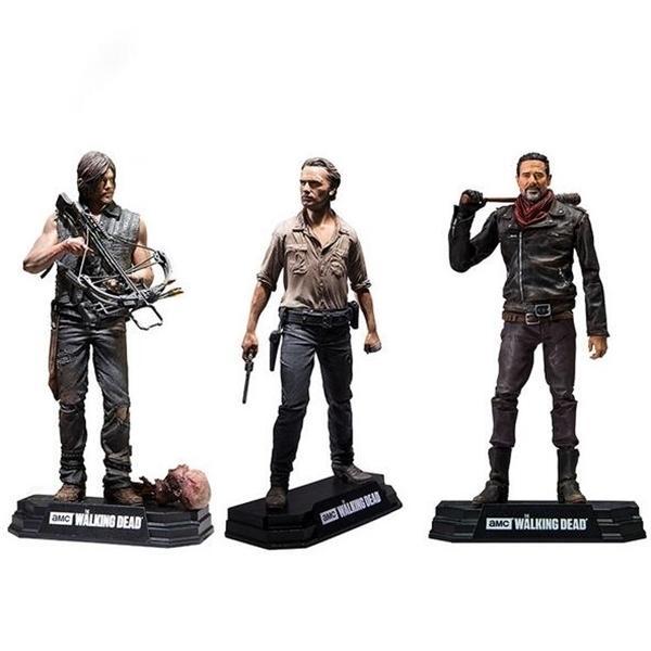 YENİ sıcak 15cm Walking Dead Sezon 8 Rick Grimes Daryl Dixon Negan aksiyon figürü oyuncak kutusuna 1008 ile Noel hediyesi bebek kolektör