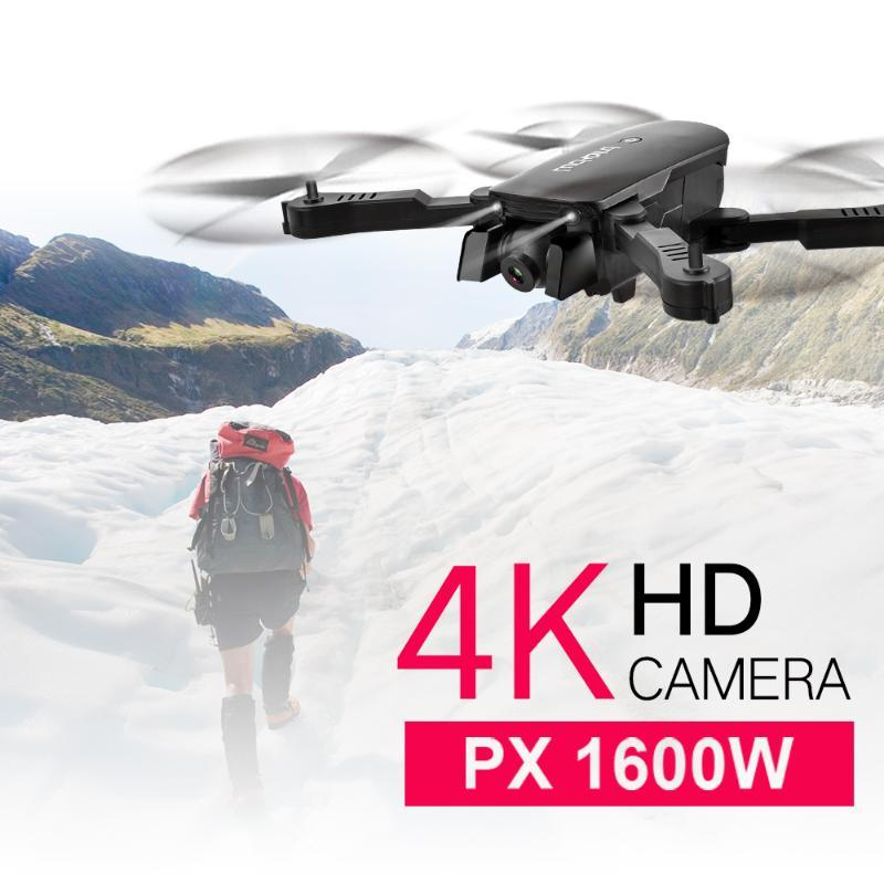 R8 드론 4K HD 공중 카메라 네 회 전자 광학 흐름 호버 지능형 팔로우 듀얼 카메라 접이식 원격 제어 헬리콥터