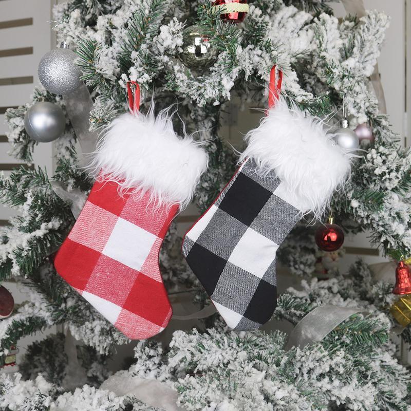 Рождественский чулок 10 «» Малый Xmas чулок для рождественских украшений и семейного отдых Decor партии