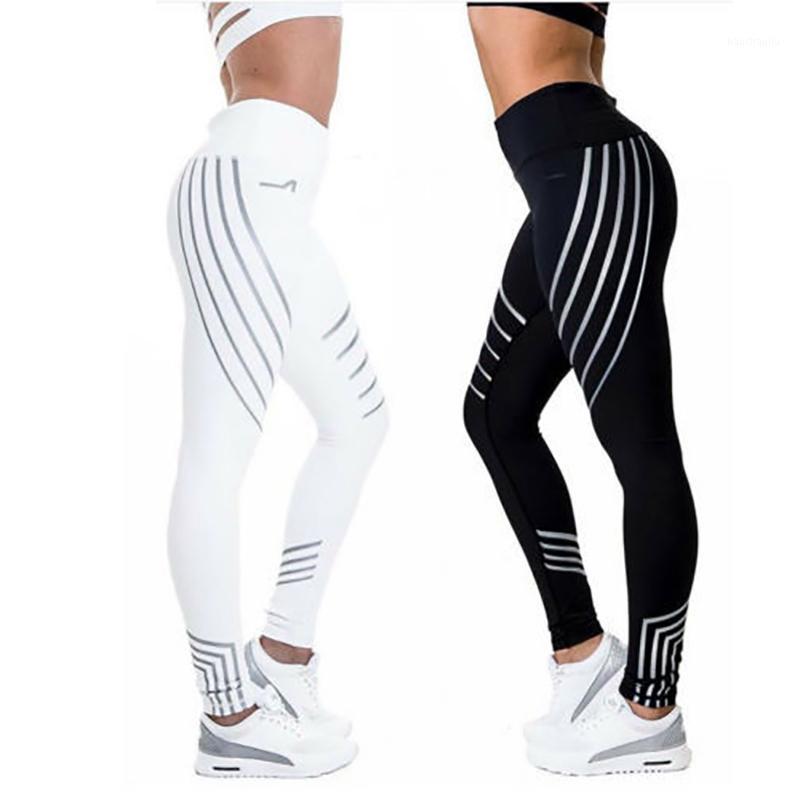 2020sports брюки фитнес леггинсы женщины спорт быстрые сухие бегунные брюки легинов быстро сухой ночь светящиеся колготки леггинсы fitness1