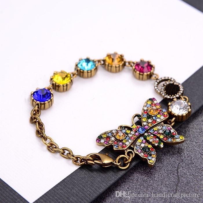 Braccialetti di lusso Designer Braccialetti Braccialetti ButterRFLY Braccialetti di fascino in ottone Retro oro collane oro orecchini vestiti gioielli moda