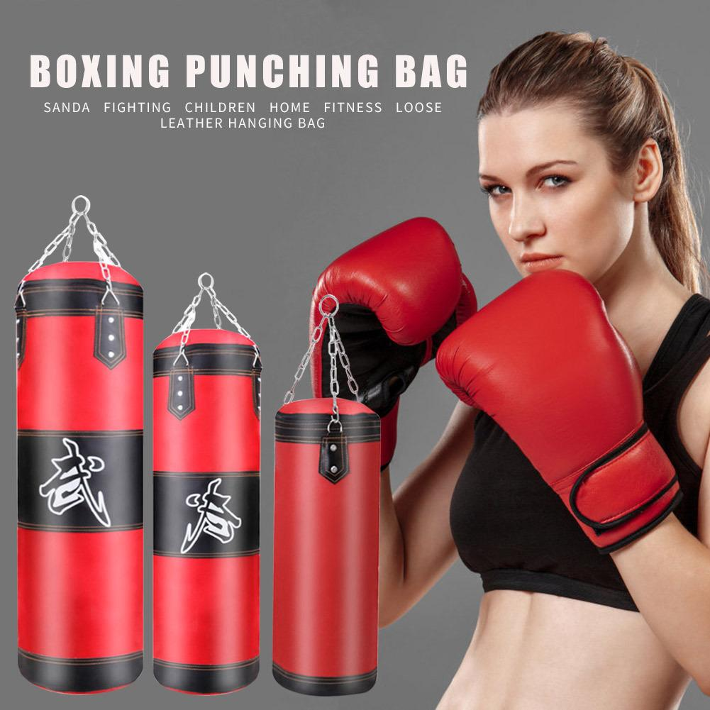 0.6m/0.8m/1m Boxing Sports Fitness Training Equipment Kickboxing Muay Thai Empty Punching Bag with Gloves Carabiner Dropship