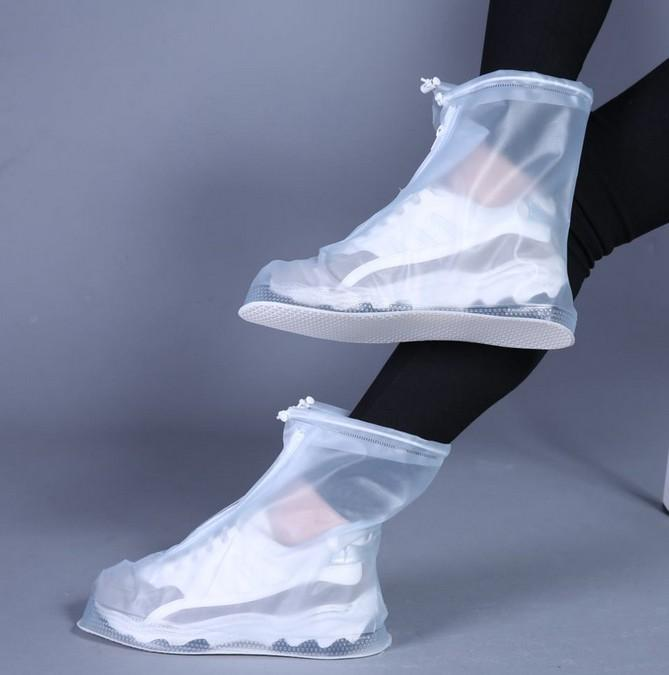 Neue Outdoor-Regen Schuhe Boots-Abdeckungen Wasserdicht Rutschhemmende Überschuhe Galoschen Reisen Schuhe forju0404