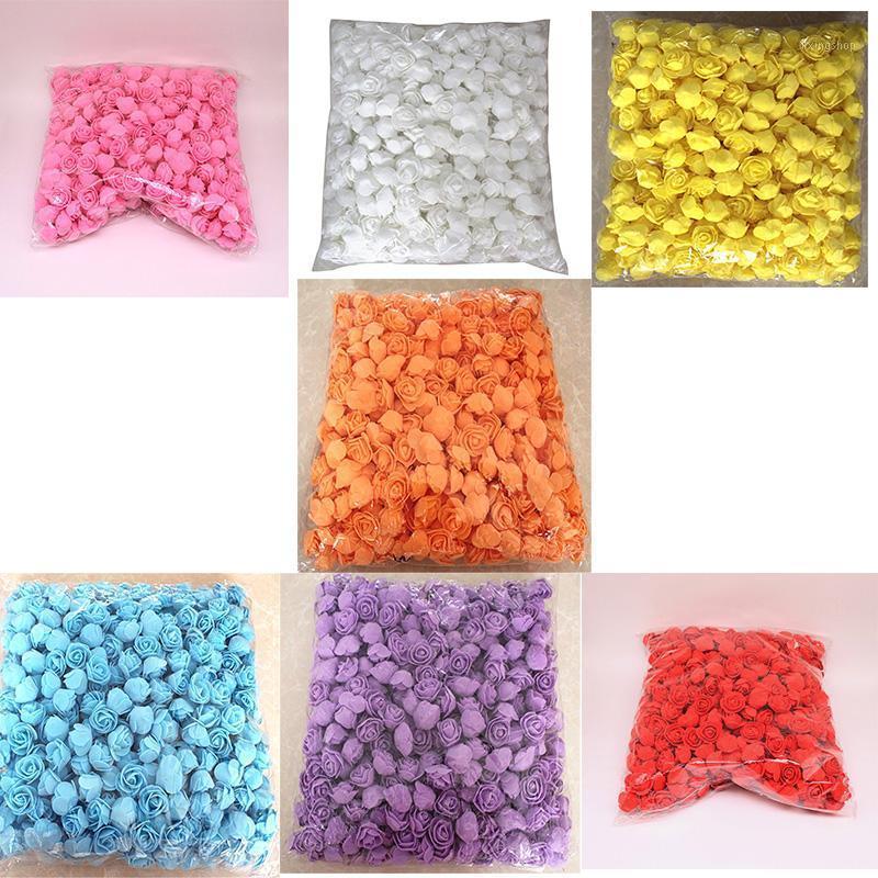 500 unids / lote estas flores se utilizan para decorar Flores Hecho por el hombre Rosas Decorativas Head Rose Bear House House Artificial Flower Re1