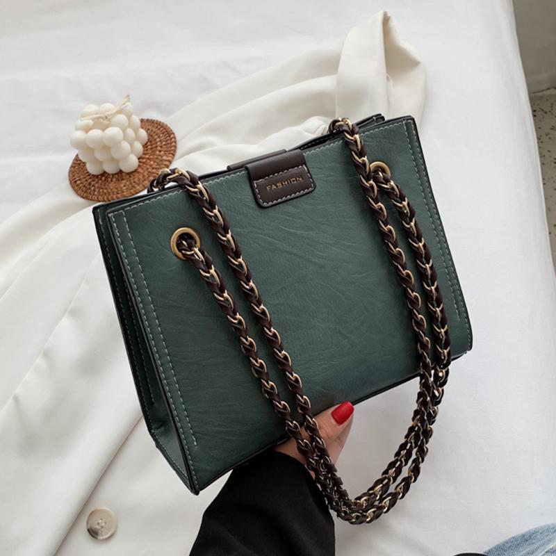 Mode chaîne en cuir design de luxe Sacs à main Femmes Sacs Designer de haute qualité Sacs à main épaule Casual Sacs de Crossbody pour les femmes