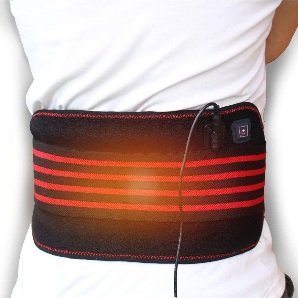 Creatrill chauffant Ceinture Wrap, 3 chauffent, Coussin chauffant lombaire au bas du dos Brace pour le dos Crampes abdominales douleur arthritique de l'estomac
