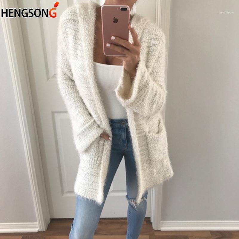 Camisola com capuz mulheres moda casual outwear tops sólidos outono inverno cardigan milho veludo luva longa tops1