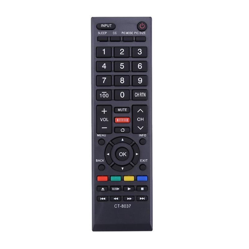 CT-8037 Ersatz-TV-Fernbedienung mit langen Übertragungsreichweite Fit für Toshiba 58L5400U / 65L5400 / 40L3400 50L3400
