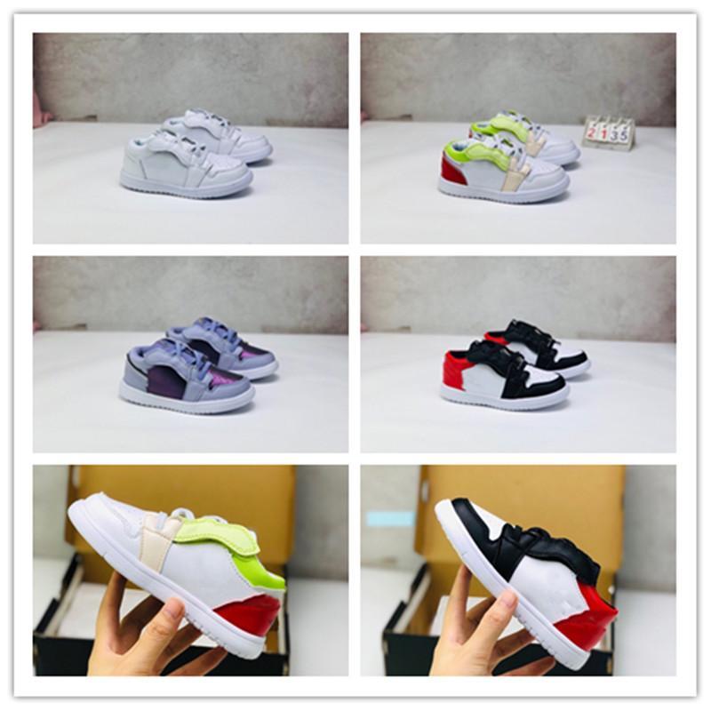 Autênticas crianças civilista Dunk Low Preto Running Shoes Termografia Outdoor Sneakers Sports Com Box Size21-35