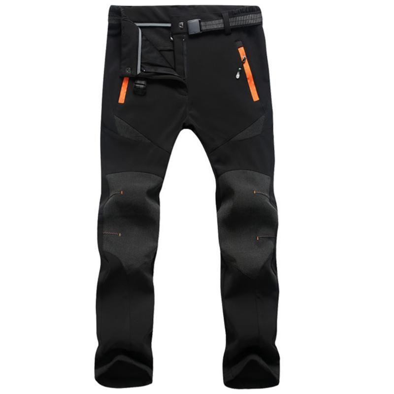 Женские лыжные брюки зимний теплый флис с мягкой шезлонкой ветрозащитный на открытом воздухе