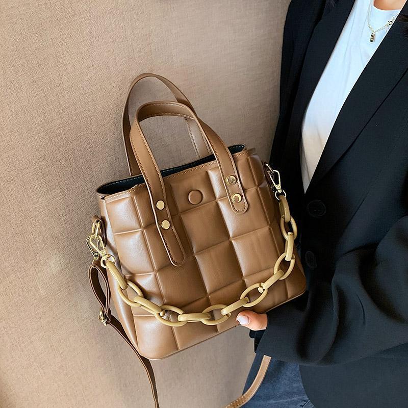 Lattice Chain Pu Couro Designer Luxo Womens Totes Feminino 2021 Pequenas bolsas de ombro crossbody bolsas e bolsas