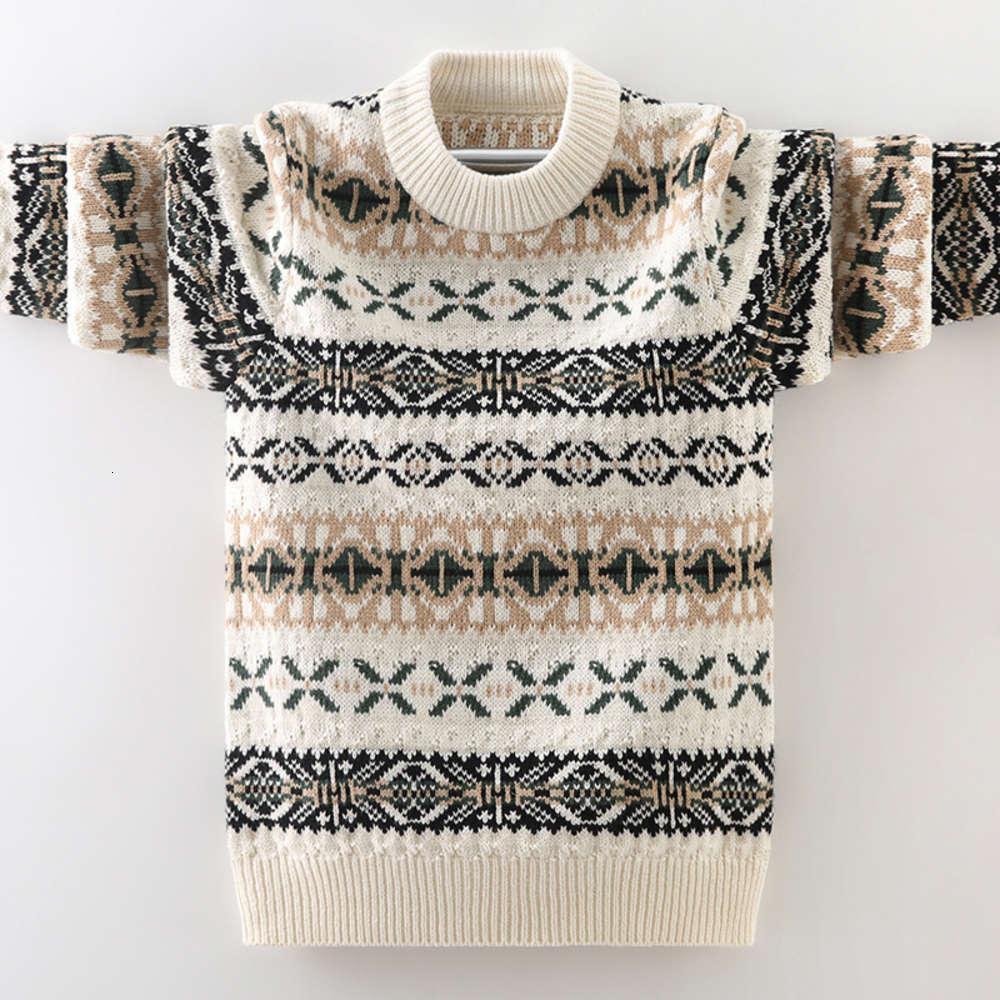 2020 и зимние мальчики Zhongda осенние плюшевые утолщенные давно Sve Chaohan детский свитер