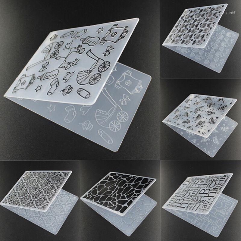 Atacado- Plástico Bonito Padrão Borboleta Borboleta Embossing Scrapbook Card Decor Craft Molde DIY Papel Cartão Template1