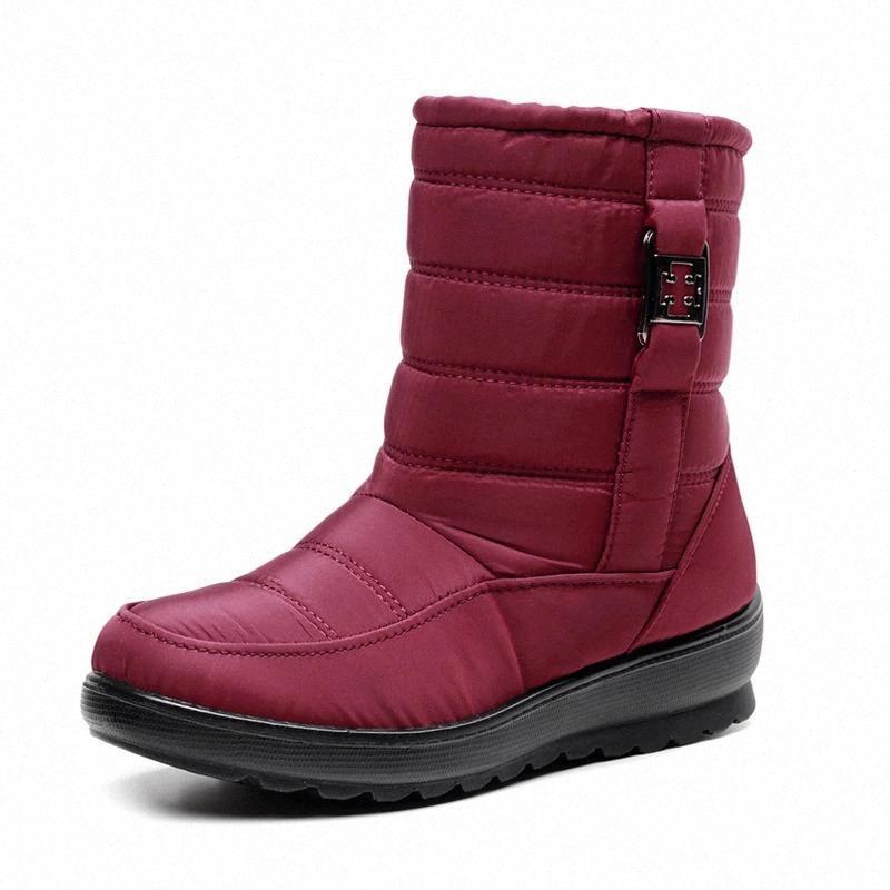 Femmes Bottes Marque Mode Hiver Chaud Bottes Courtes De Mode chaussures Chaussures femelles étanches à eau chaussures antidérapantes # FZ0A