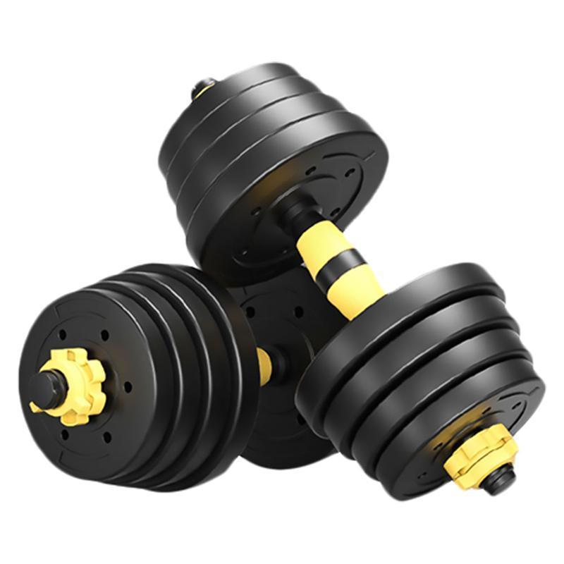30KG الرئيسية بالمطاط الدمبل عمليا قابل للتعديل للياقة البدنية الدمبل مجموعة دمبل وزن مجموعة للياقة البدنية الدمبل للمرأة رجل