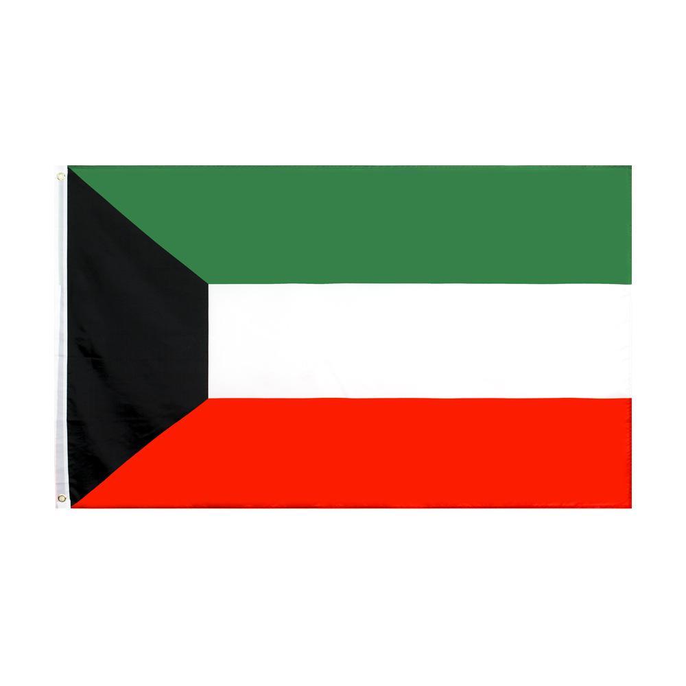 Trasporto libero nelle azione 3x5ft 90x150cm KW KWT Kuwait bandiera nazionale per interni ed esterni Banner