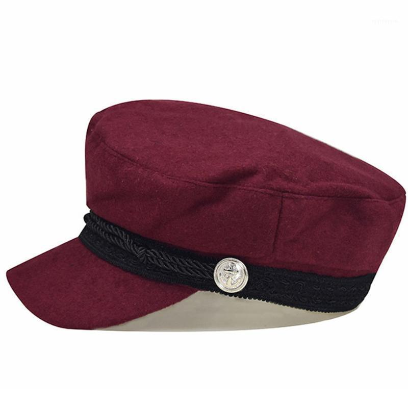 المرأة النمط البريطاني الخريف الشتاء لينة الدافئة قبعة الصوف مثمنة قبعة الجانب شارة الجانب قناع newsboy الرجعية هدية الأزياء beret1