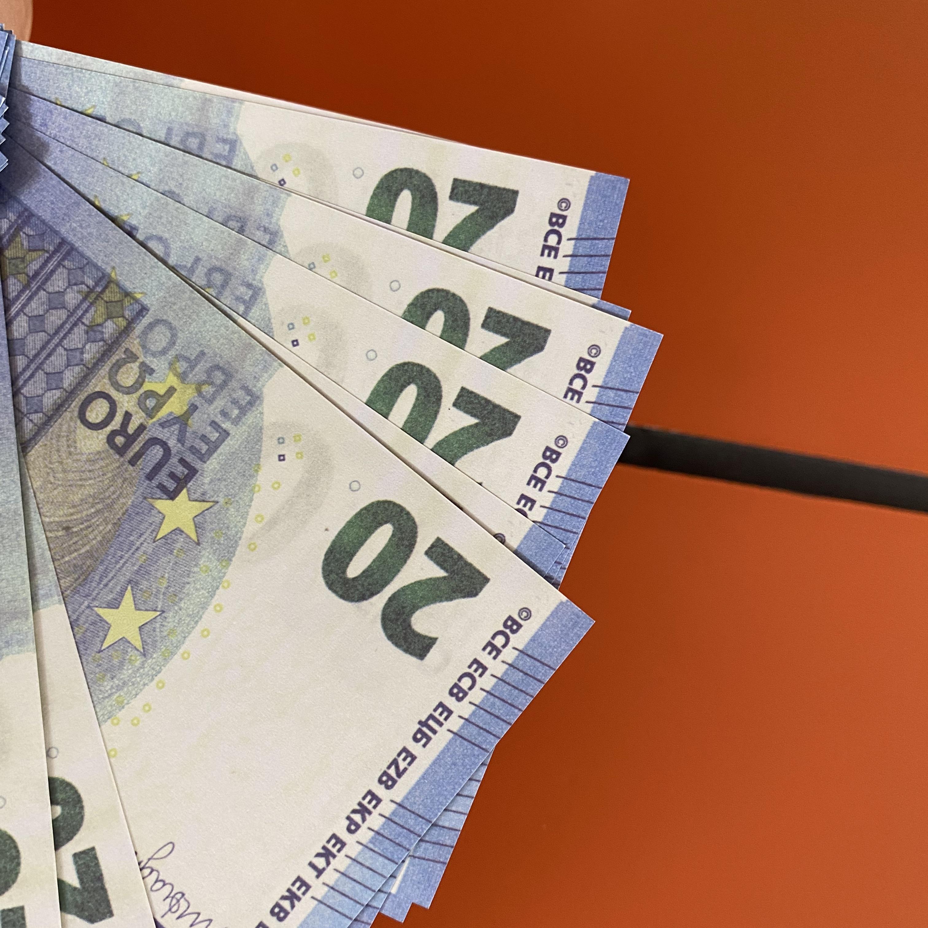 Carta copia PROP Banknote Family Game Soldi US / Euro / Dollaro Bambini o giocattolo192 Realistico 100pcs / Pack più DAJXB