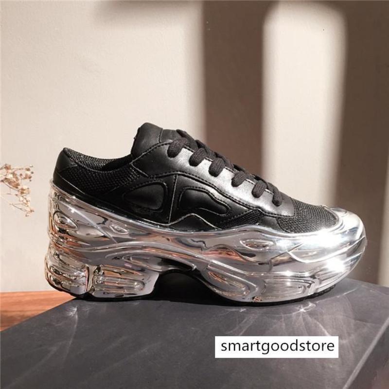 2019 Mens oversize scarpa da tennis, argento liquido disegno sneaker effetto dip Sole Sport Trainer multicolore con il formato 38-45