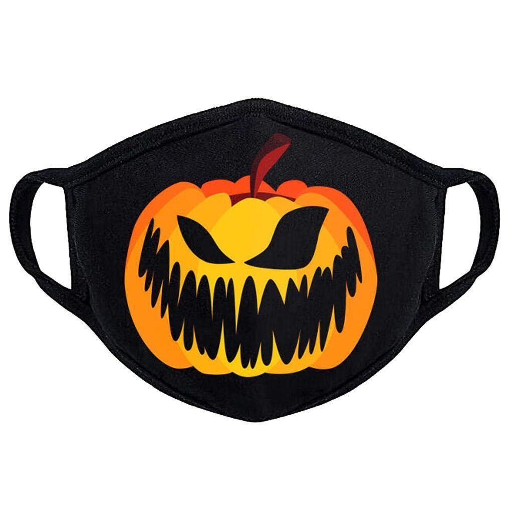 Máscaras de Halloween del partido del patrón 3D Diseño Impreso prueba de polvo sobre la oreja Tela máscara de Halloween Decoración de fiesta
