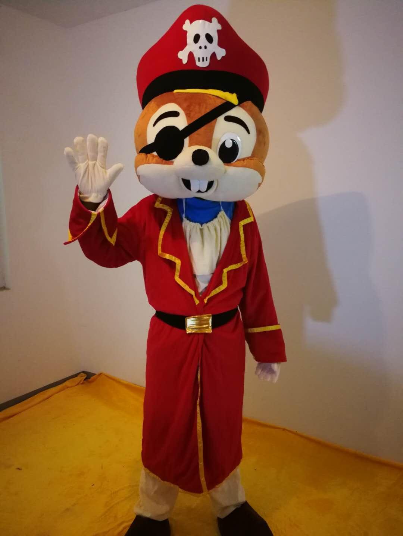 Piratenrat Maskottchen Maskottchen für Party-Cartoon-Figur Eisbär-Maskottchen-Kostüme zum Verkauf Kostenloser Versand Unterstützungspersonalisierung