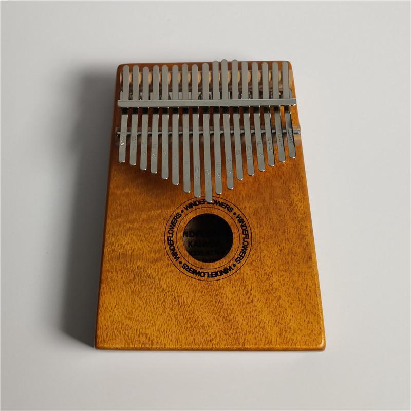 17-Key Okoume Kalimba Thumb Portable Piano Parmak Elastik Piyano Afrika Kalimba Kaplama Yüksek Kaliteli Ahşap Okoume Ahşap Yapılır