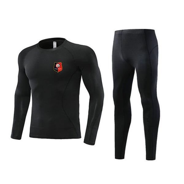 Newest Stade Rennais Soccer Tight Tracksuits Kids Outdoor Clothing Size22 Men's Athletic Sets Adult Football Warm Suit Size L