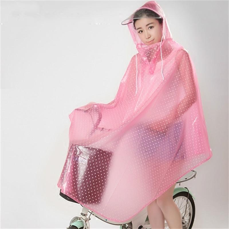 Мода прозрачный плащ велосипедный дождь водонепроницаемый велосипедные накидки дождя ПВХ плащи на 201016