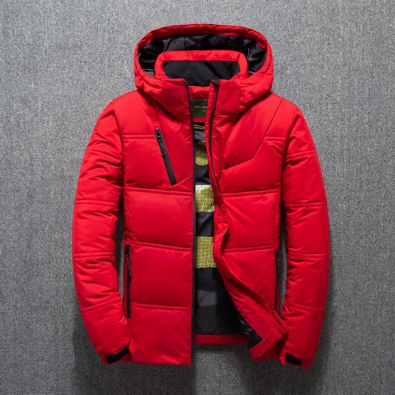 Veste Hiver Homme Manteau thermique duvet épais neige parka Homme Réchauffez homme Outwear Doudoune ultra-léger de canard blanc Down Jacket Men