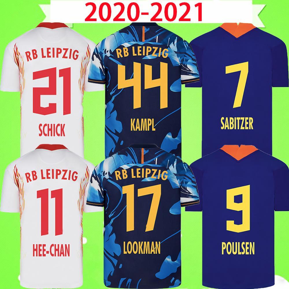 RB LEIPZIG RB 라이프 치히 20 21 축구 유니폼 홈 어웨이 세 번째 WERNER Camiseta HEE-CHAN Maillot HALSTENBERG SABITZER 2020 2021 Football Shirt Kits CUNHA Uniform