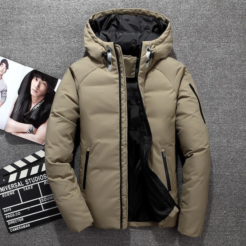 New Hiver 2020 de haute qualité de canard blanc Veste Homme chaud manteau à capuchon chaud Vente Mode Casual Bas Parkas Hommes