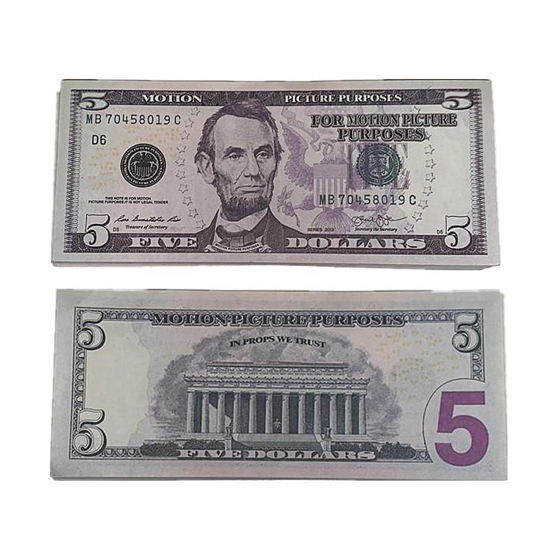 Spielzeug filmparty billet 5 4d kinder itepx nightculb 100 teile / pack geld faux gefälschten dollar spielen prop tair bar cjcar