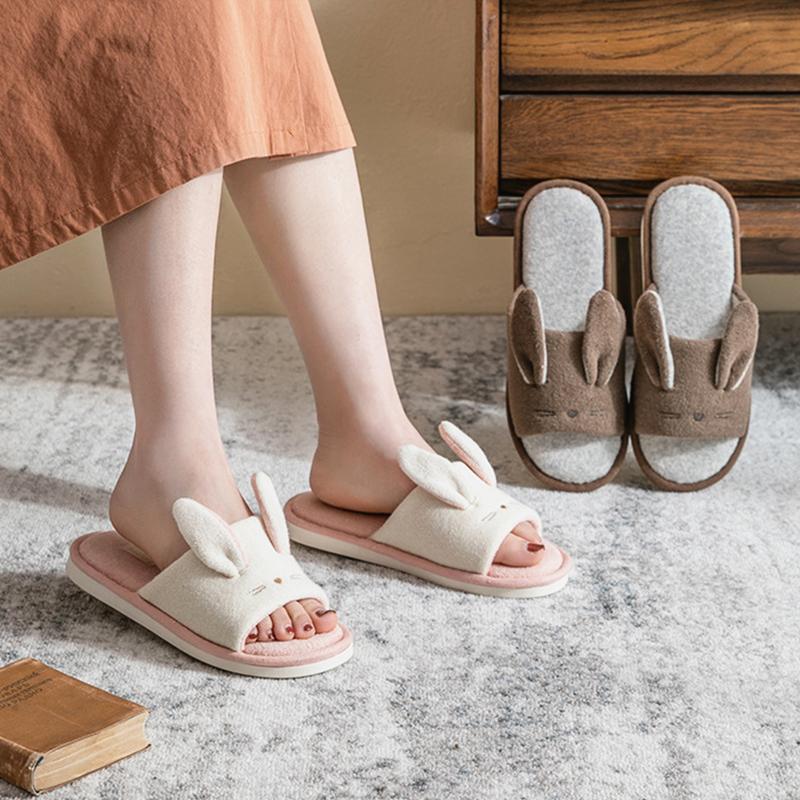 Тапочки Дизайнерский Дом Женщины Мягкая Ткань Хлопок Спальня Дамы Плоские Обувь Розовые Девушки Слайды Нескользящие