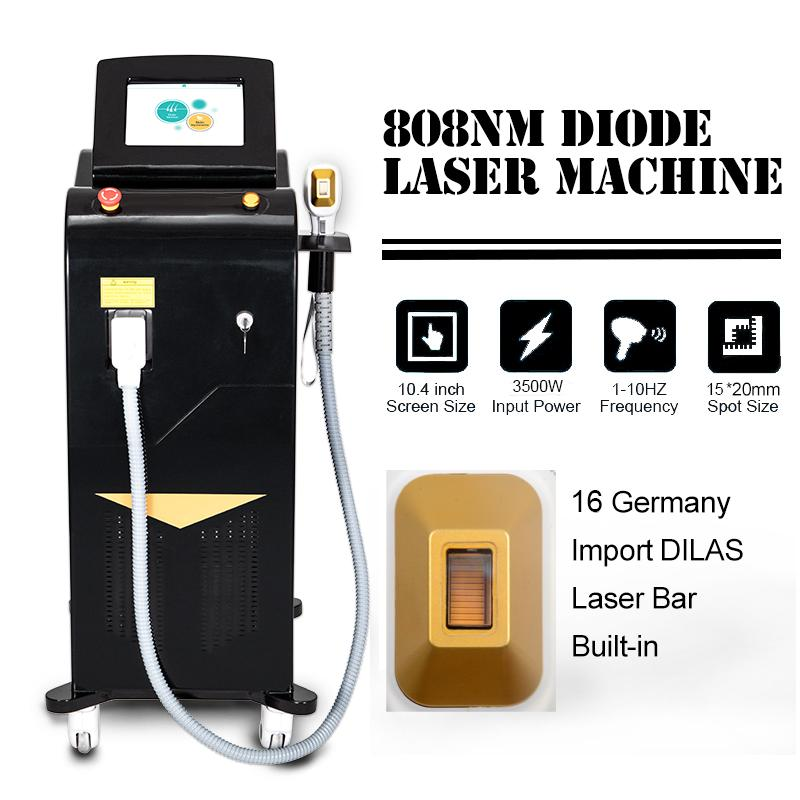 2021 Hot Dual Heads Alma Sooprano Ice Titanium Лазерный бар Удаление волос Диода Лазер 808 Диод Лазер Безболезненная машина для удаления волос