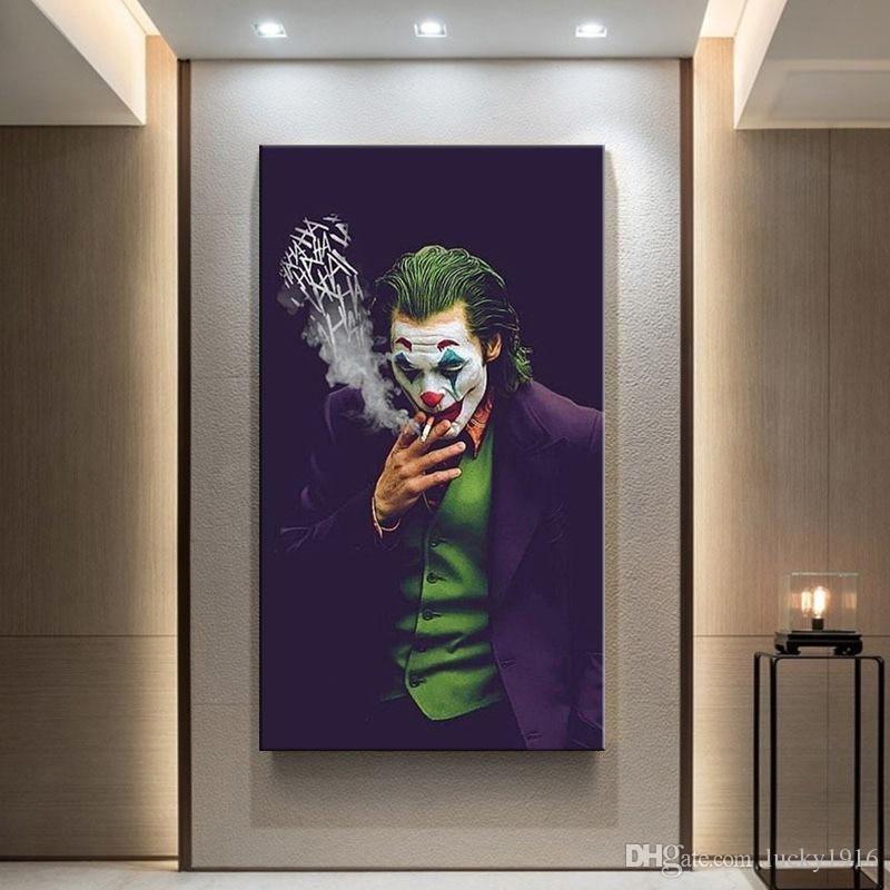 2020 Die Joker Wall Art Canvas Malerei Wanddrucke Bilder Chaplin Joker Movie Plakat für Wohnkultur Moderne Nordische Malerei