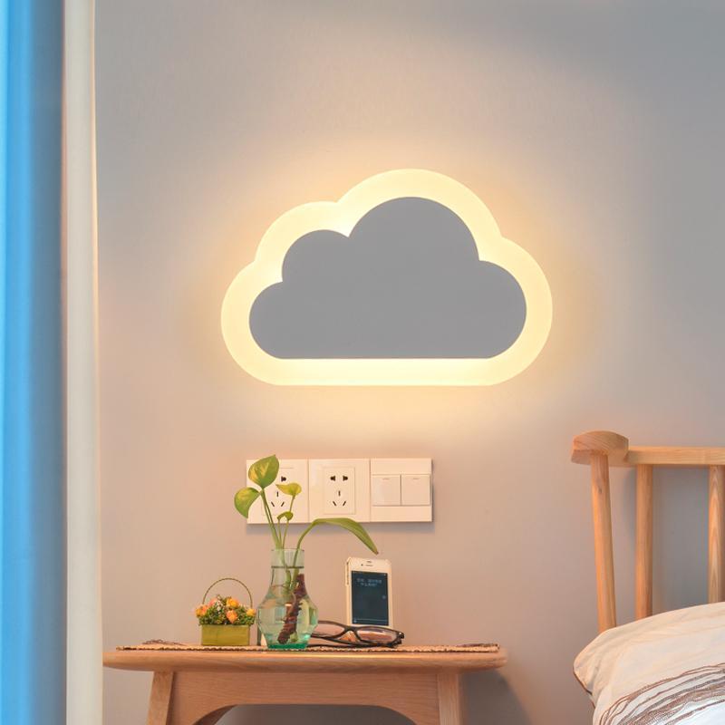 Modern LED Bulutlar Duvar Lambaları Duvar Işık Salon Çocuk Yatak Odası Dekor Akrilik Duvar lambası lamba AC 110V 220V Kapalı Işık Fikstür