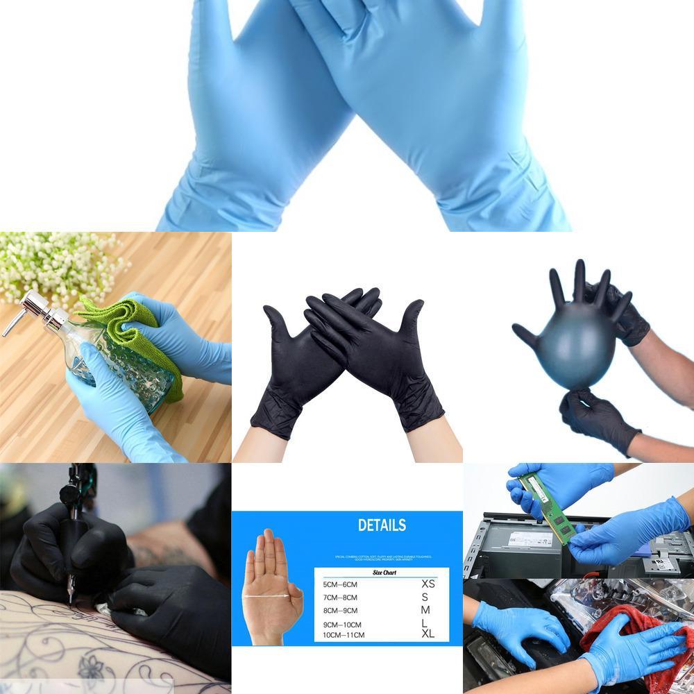 fábrica de nitrilo desechables de látex anti-aceite de guantes de goma sin polvo cómodo Pequeño lote wholesaleoutlet8HOQ
