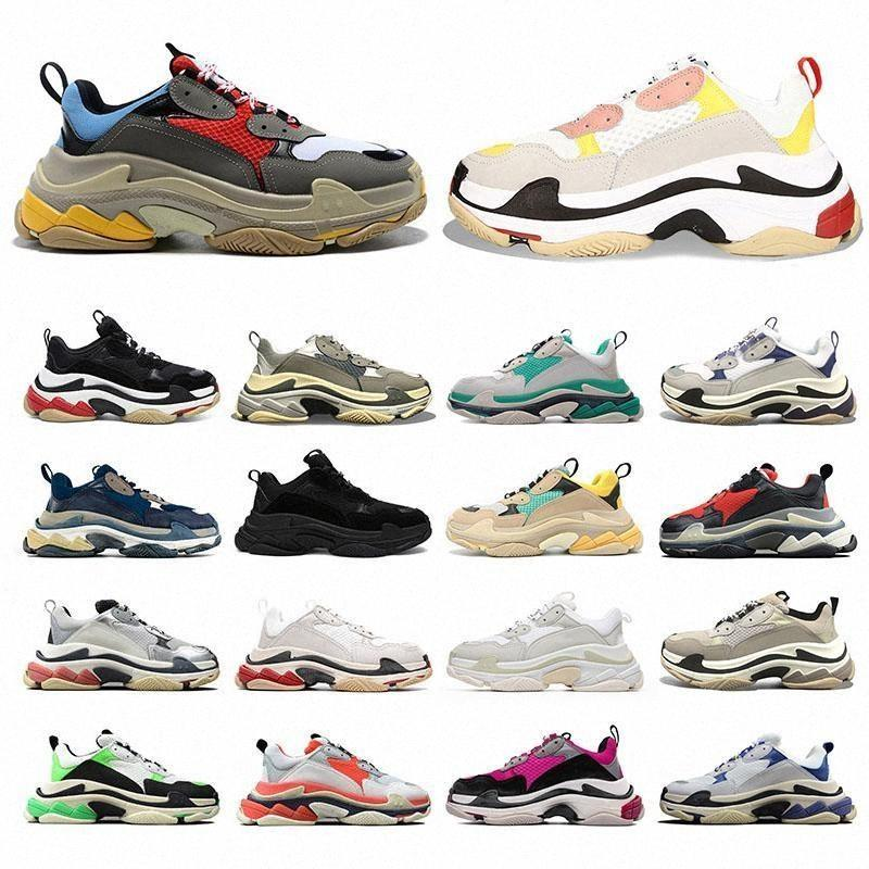 2021 TRIPLE S Fashion Men Donne DAD Scarpe Tripler Bigsized Sneaker Platform Sole Retro Scarpe Donna Mens Zapatillas 36-45 PSQK #