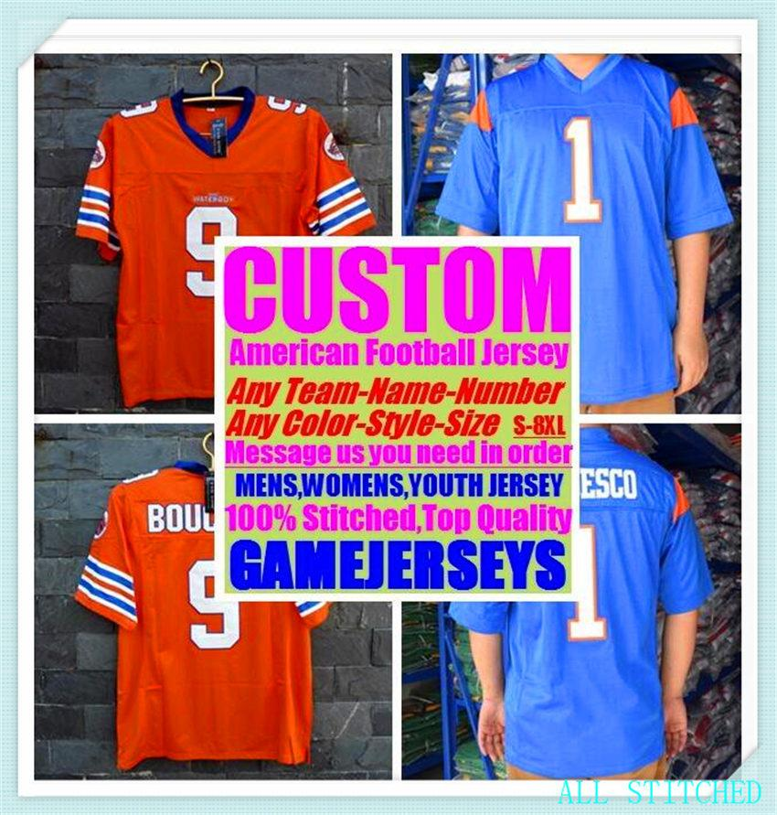 Custom Béisbol Hockey Baloncesto Hombre para mujer Jóvenes American Fútbol Jerseys Deportes Vapor intocable 2021 Jersey Aqua 4xl 5xl 6xl
