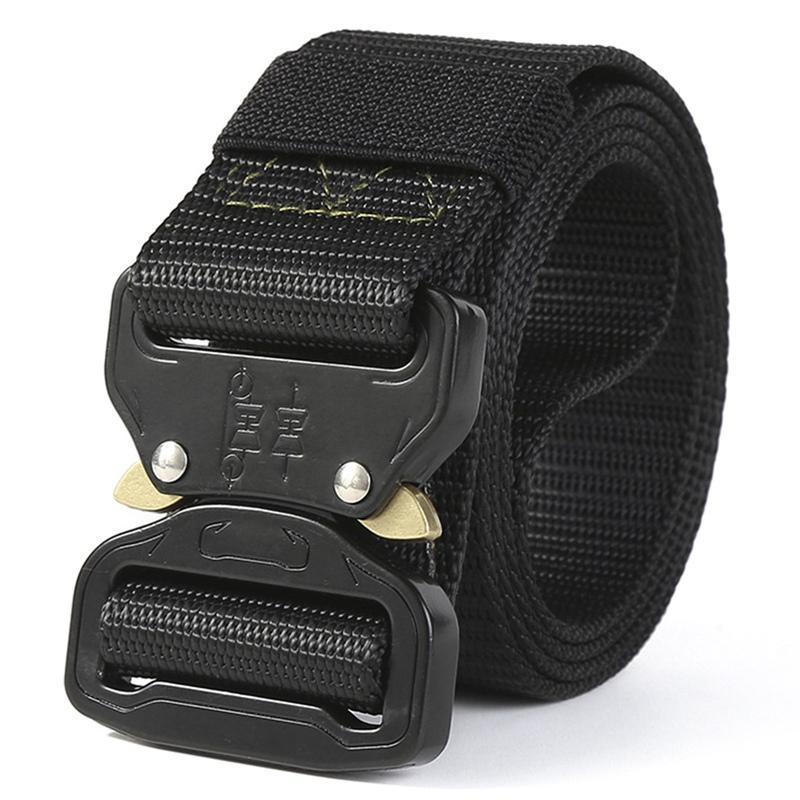 Cinturones táctico hombres de la correa ajustable tácticos resistentes cintura con hebilla de metal de nylon correa de Caza Accesorios
