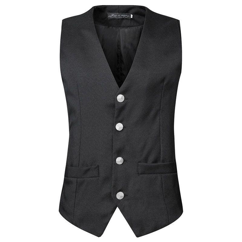Nouveau costume masculin Sier gilet gilet décontracté gilet formel m02
