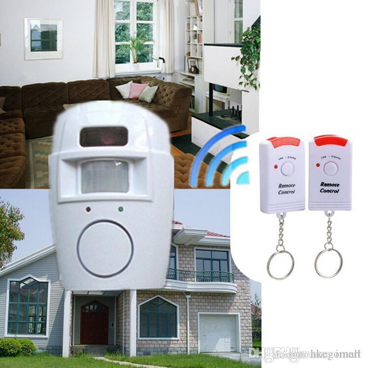 Sistemi di allarme IR a raggi infrarossi sensore di sicurezza del rivelatore sistema domestico 2 a distanza di allarme senza fili di controllo del sensore di movimento di sicurezza Nuovo rivelatore
