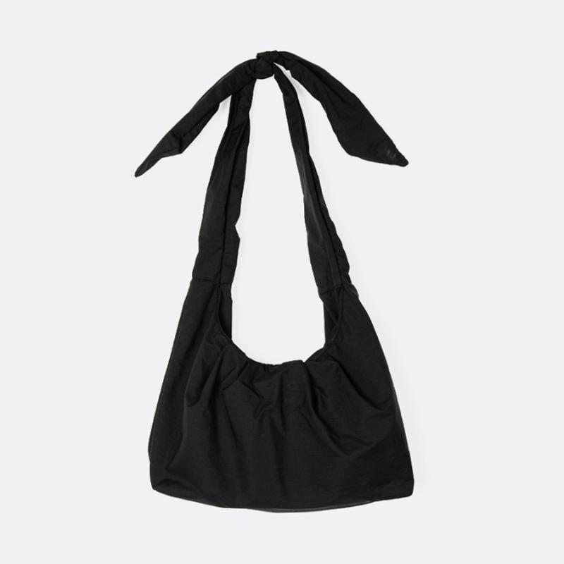 Bolso de Bowknot casual bolsas de hombro lienzo de mujer Pequeño color plisado bolsas sólidas para femenina moda cuadrada mujer cruz cuerpo bolso vnlpx