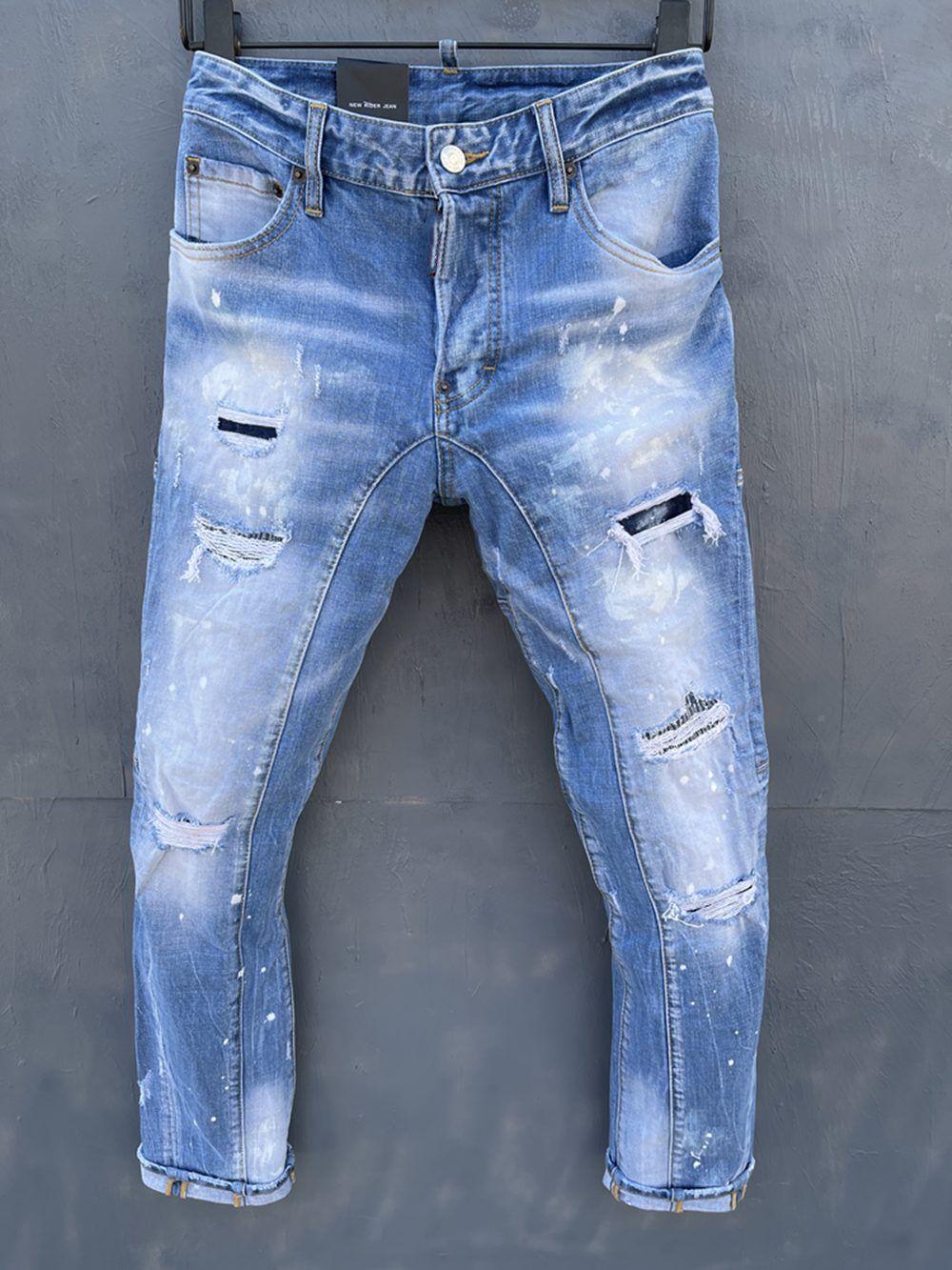 2021 Neue Marken Europäische und amerikanische Mode Herren Casual Jeans, hochwertiges Waschen, reines Handschleifen, Qualitätsoptimierung LT138
