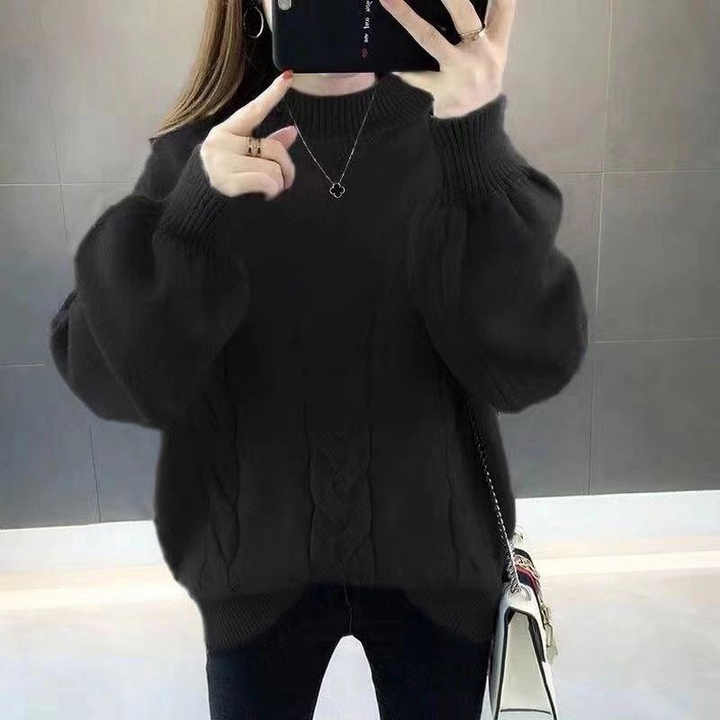 Женский сплошной цвет V-образный вырез свитера Европы и Америки потерять большой размер свитера белых 201017