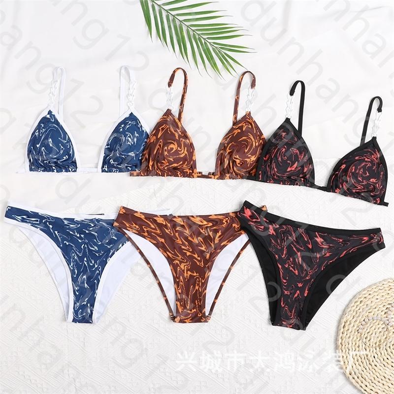 2021 primavera ed estate vestito da donna biancheria intima SS Sexy Hot Lusso Leggings Bikini Fashion Designer Bandage Swimsuit da donna Off22