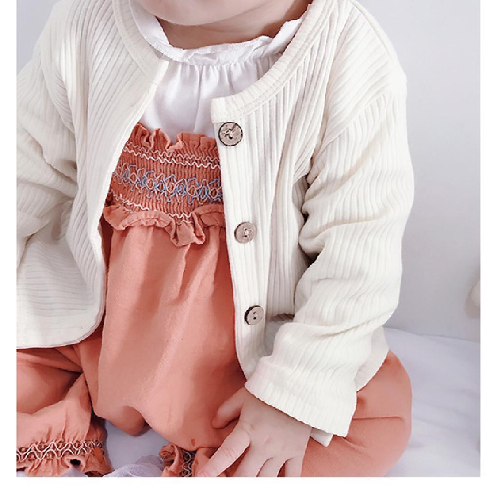 Neugeborene Baby-Kleidung Mädchen Strickjacke Mantel Herbst Strick Kleinkind- Jungen-Strickjacke Mädchen-Jacke Baumwollbaby-Pullover Super Soft Oberbekleidung 1029