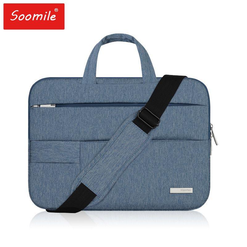 HBPFashion Women Handbag Laptop 15 14 13 12 11.6 inch Briefcases Shoulder Messenger Bag for Macbook Air Pro Computer sleevel Q0112