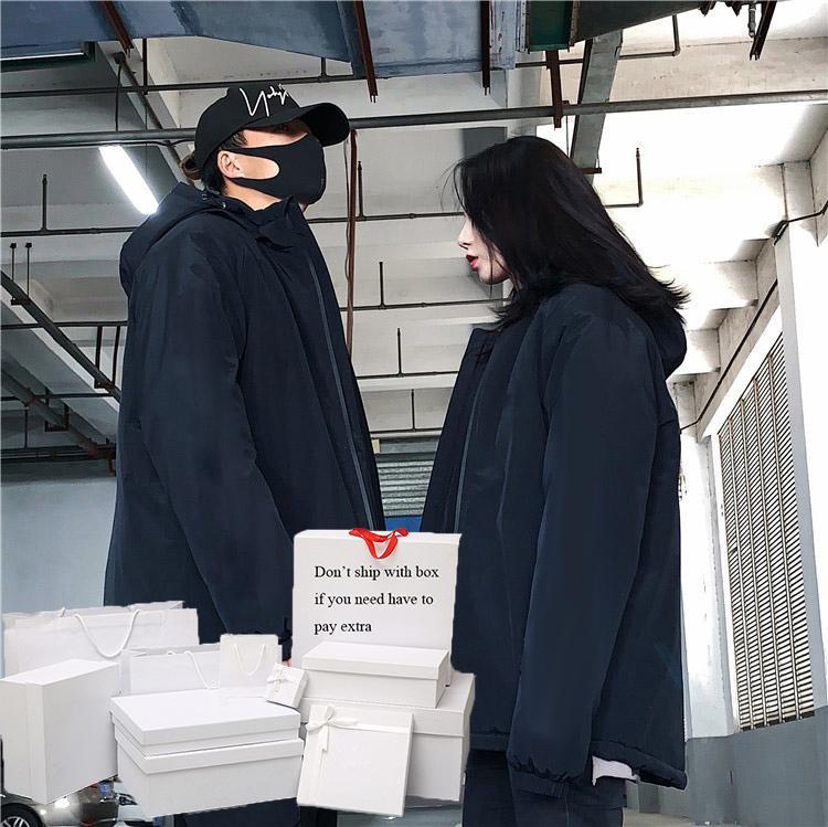 남성 여성 다운 재킷 파카 가을 겨울 솜 패딩 자켓 여성 고품질 코트 후드 재킷 문자 패턴 남성 탑