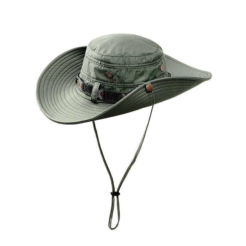 Arrefecer ocidental chapéus de vaqueiro Homens Sun Visor Cap Mulheres Viagem Desempenho Chapeu táticos Balde Boonie Hats nepalesa Cap